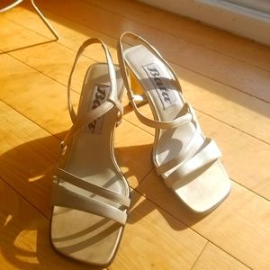 Vintage Bata Square Tip Heels Size 6